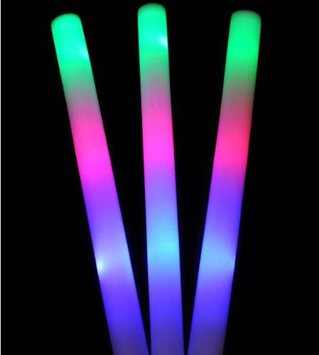 Domire 12 Pcs Colorful Sponge Glowsticks Large Glow Sticks For Party /Birthday Gifts / Cheer Suppliers
