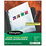 Wilson Jones Super Heavy Weight Top-Loading Sheet Protectors, Letter Size, 50 Sleeves per Box, Clear (W21400)