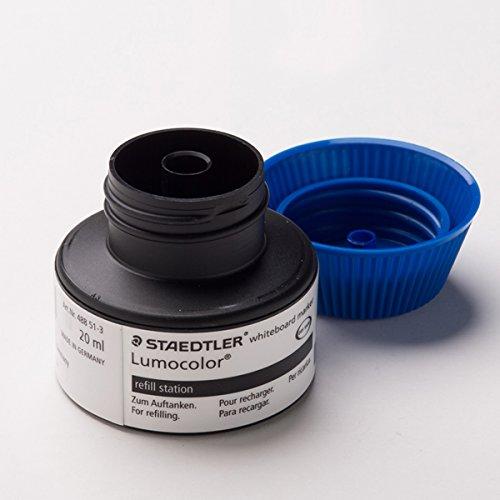Staedtler 488 51-3 Flacon de recharge Lumocolor pour marqueurs 351/351 B 15 à 20 recharges (Bleu) (Import Allemagne)
