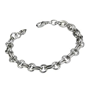 0.01 Carat Diamond Charm Bracelet in Sterling Silver