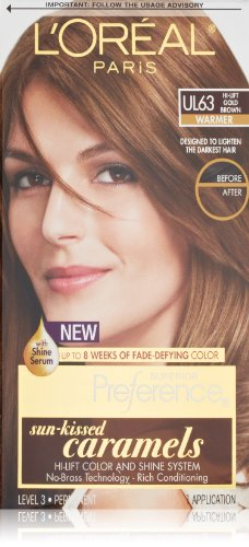 L'Oreal Paris Superior Preference Hair Color, Ul63 Hi-Lift Gold Brown Warmer