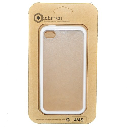 White Tpu Frosted Clear Plastic Back Candy Bar Cover Case For Apple Iphone 4 4S