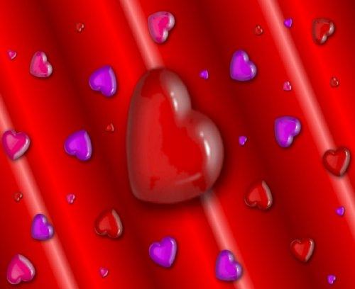 MOUSE MAT 1180 LOVE HEARTS ROMANTIC VALENTINE