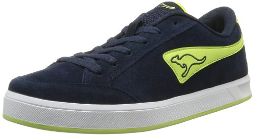 Kangaroos Men's Bert Trainers Blue Bleu (484 Dk Navy Lt Lime) 8 (42 EU)