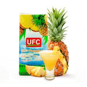 果汁100% 無添加 パイナップルジュース (濃縮還元) 1000mlX5個セット (HALAL商品)(業務用 タイ UFC)