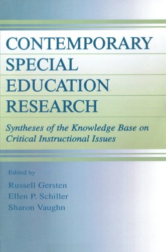 Contemporary Special Education Research: Syntheses Of The Knowledge Base On Critical Instructional Issues (The Lea Series On Special Education And Disability)
