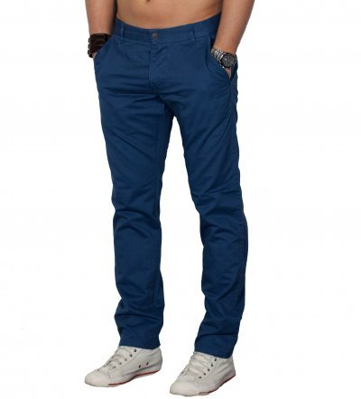 Jack & Jones Herren Hose BOLTON EDWARD Chino Mid Blue (38/32)