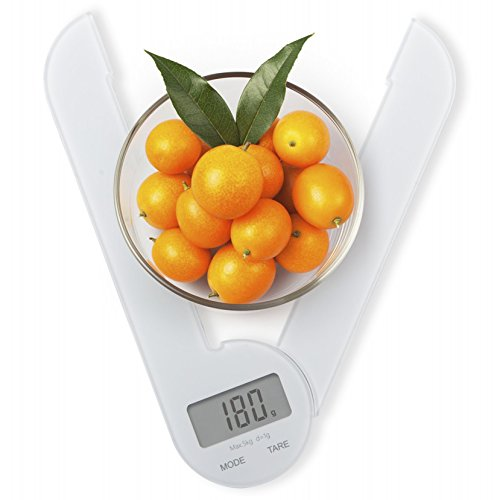 Spirit Compact Folding Digital Scale, Multifunction Kitchen Scale, Food Scale,11lb/5kg/1ml, White (Cheap Baking Scale compare prices)