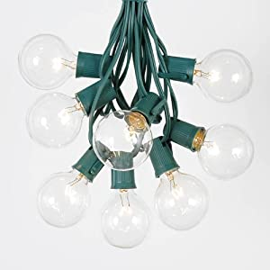 Novelty Lights G50 Globe Outdoor String Lights With 125 Clear Gl