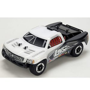 1/24 4WD Short Course Truck RTR: White/Grey/Black