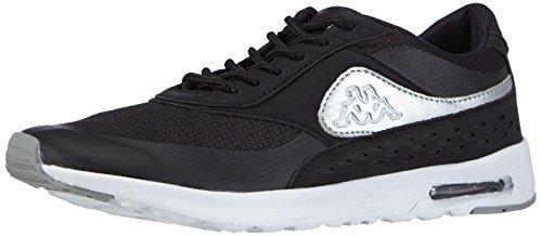 kappa-milla-footwear-women-synthetic-mesh-sneakers-basses-femme-noir-schwarz-1115-black-silver-39-eu