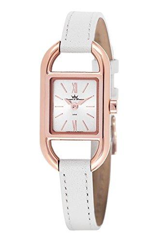 Yonger & Bresson-DCR 1694-02-Ladies Watch-Analogue Quartz-Silver Dial-White Leather Bracelet