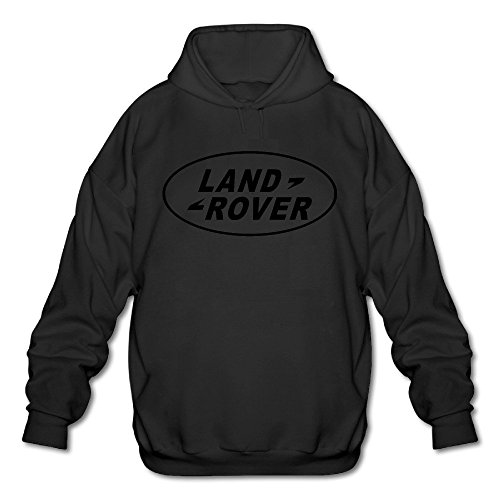 Men's Land Rover Logo Long Sleeve Hooded Sweatshirt Black (Land Rover Lifter compare prices)