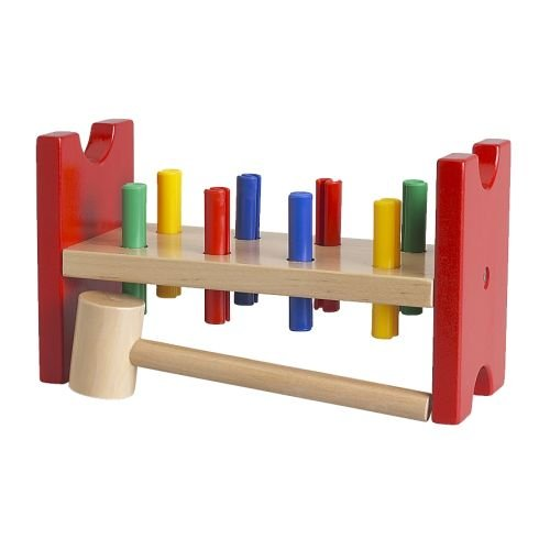IKEA - MULA Toy hammering block, multicolor