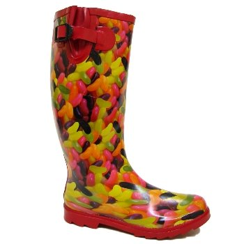 Red Jelly Beans Ladies Festival Wellies