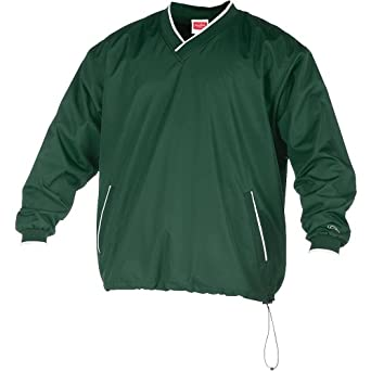 Rawlings Men's Rvnw2 V-Neck Pullover Jacket(Dark Green, Small)