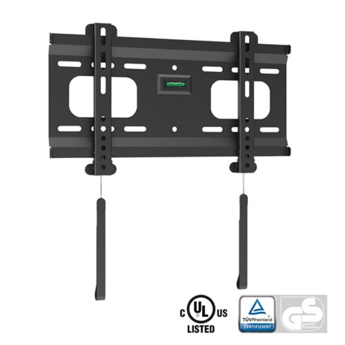 "Ultra-Slim Black Fixed/Flat Low-Profile Wall Mount Bracket For Sceptre P322Bv-Hdr 32"" Inch Led Hdtv Tv/Television"