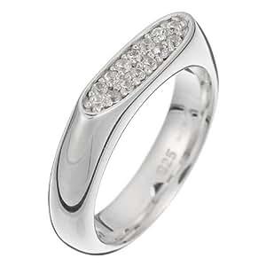 Esprit - ESRG-90462.A.18 - Bague Femme - Argent 925/1000 6.4 gr - Cristal - Oxyde de zirconium - Blanc - T 56