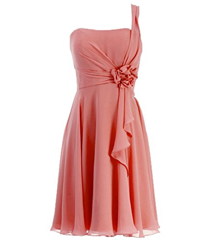 On Sale JAEDEN Shoulder Bridesmaid Chiffon Blushing