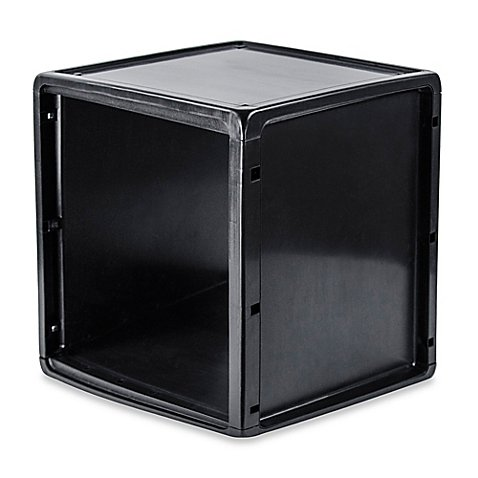 Plastic Storage Cube in Black (30 Gal Plastic Storage Containers compare prices)