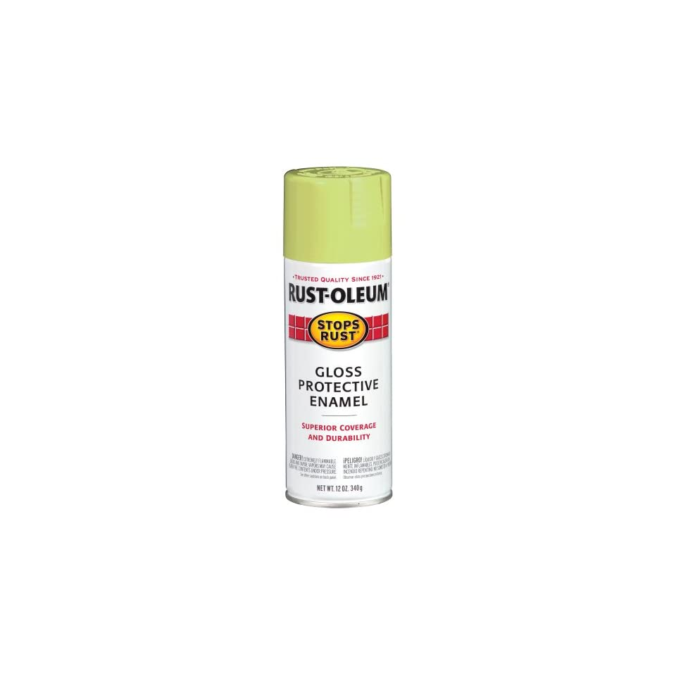 Rust Oleum 241233 Enamels Spray, Gloss Spring Green, 12 Ounce