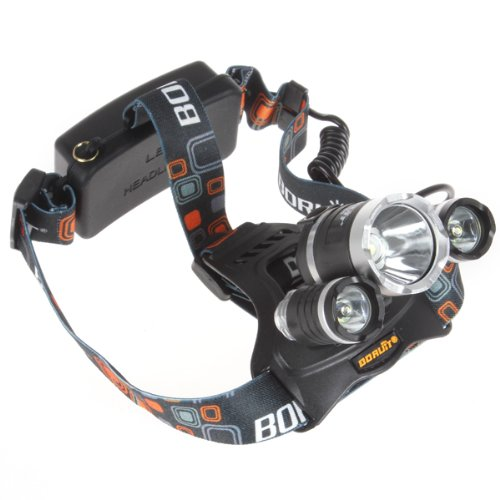 Windfire® 3X Cree Xm-L T6 U2 4 Modes Super Bright 5000Lm Headlamp With Adjustable Base 18650 Rechargeable Batteries Headlight Bicycle Light With Usb Cable Powered And Charged By Mobile Power Bank, Computer And Any Other Digital Device With Usb Port