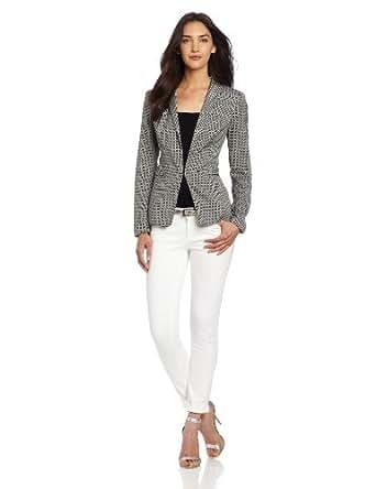 DKNYC Women's Long Sleeve Shawl Collar Blazer, Stone, 2