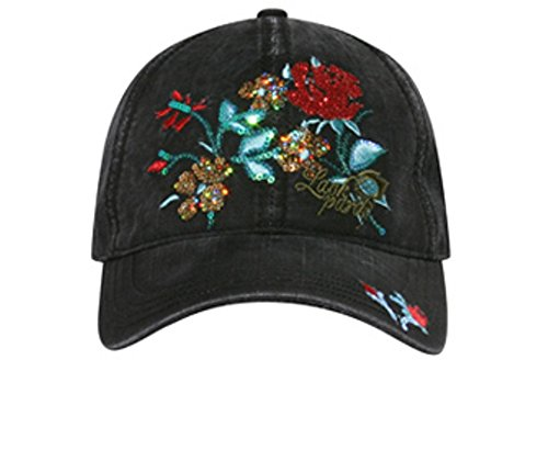 Hats & Caps Shop Sequin Rose Design Caps - By TheTargetBuys