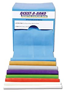 Resist-A-Band - Latex Exercise Bands - Box - Blue - Extra Heavy - 50 yard Roll