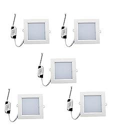 3W Square LED Panel Light-White Color-Pack of 5 Pcs
