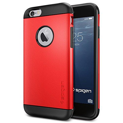 iPhone 6 ケース, SpigenR [ スリム+保護力+個性 ] Apple iPhone 4.7 (2014) スリム アーマー The New iPhone アイフォン6 (国内正規品) (エレクトリック・レッド 【SGP10956】)