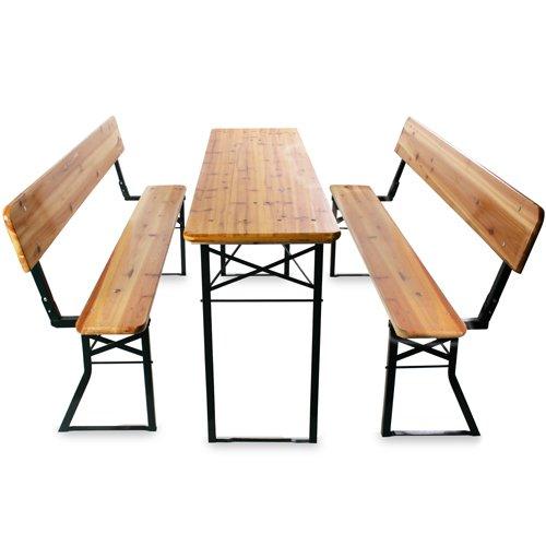 jago bzg03 bierzeltgarnitur 3teilig mit r ckenlehne. Black Bedroom Furniture Sets. Home Design Ideas