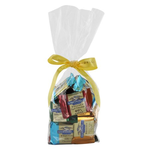 Ghirardelli Chocolate Assorted SQUARES Gift Bag Chocolates Gift Bag, 33 pcs
