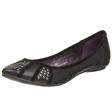 Volatile Women's Sugarplum Studded Flat,Black,5.5 M US