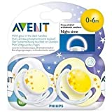 Philips Avent 0-6 Months Glow In The Dark Night Time Soothers Dummies Scf176/18 Great Gift For Baby Free Shipping...