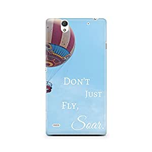 Motivatebox - Sony Xperia C4 Back Cover - Don't just Fly Polycarbonate 3D Hard case protective back cover. Premium Quality designer Printed 3D Matte finish hard case back cover.