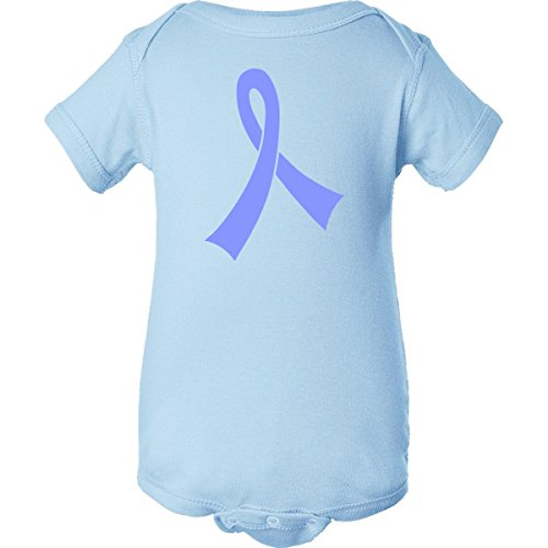 Inktastic Unisex Baby Periwinkle Awareness Ribbon Infant Creeper Newborn Baby Blue front-1033543