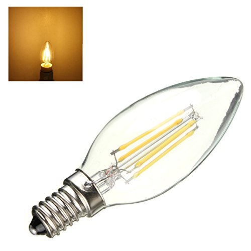 4W E14 Candle style & Filament LED B0ulb (Warm white)