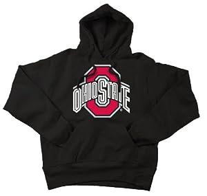 Ohio State Buckeyes Hooded Sweatshirt Icon Black by Elite Fan Shop