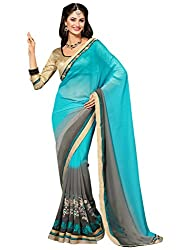coolwomen women's georgette embroidered free size fancy saree-cw_cwRGNA353_multicolor_free size
