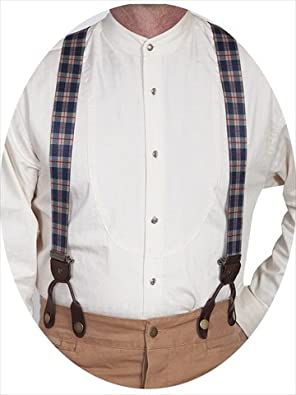 Victorian Men's Accessories – Suspenders, Gloves, Cane, Pocket Watch, Spats Mens Plaid Suspender - Beige One Size $33.93 AT vintagedancer.com