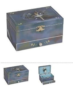 schmuckkasten mit spieluhr ballerina mit 1 schublade 18x11x10 cm k che haushalt. Black Bedroom Furniture Sets. Home Design Ideas
