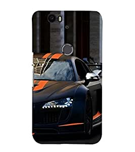 Vizagbeats half sports car Back Case Cover for Huawei Google Nexus 6P