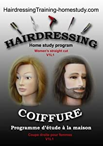 V1L1 -Women's Straight cut -Courses in hairdressing / hairdressing training
