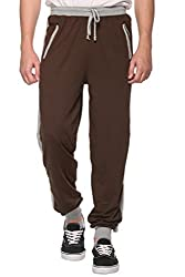 COLORS & BLENDS - Coffee - Cotton Track Pants with Zipper cross-pocket - Size XL