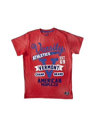 American People Camiseta Manga Corta Varsity Antracita