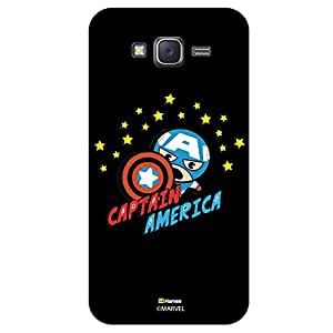 Hamee Marvel Samsung Galaxy J5 Case Cover Captain America With Stars Black