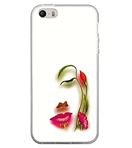 Fuson Premium Floral Girl Metal Printed with Hard Plastic Back Case Cover for Apple iPhone 5