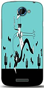 Snoogg City Life Hurdles 2472 Designer Protective Back Case Cover For HTC One S