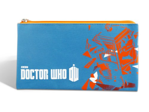 Official Doctor Who Stationery - 3 Pocket Pencil Case - Worlds In Time